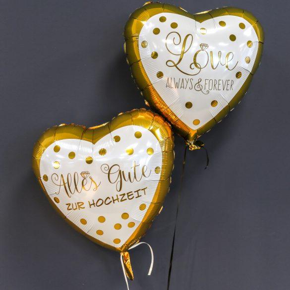 Ballons zur Hochzeit - Herzballons je € 5,50 55