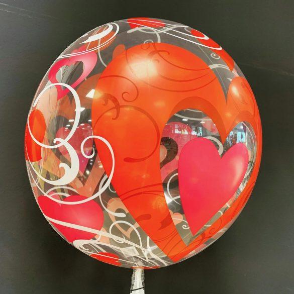 Runder Ballon mit Herzen