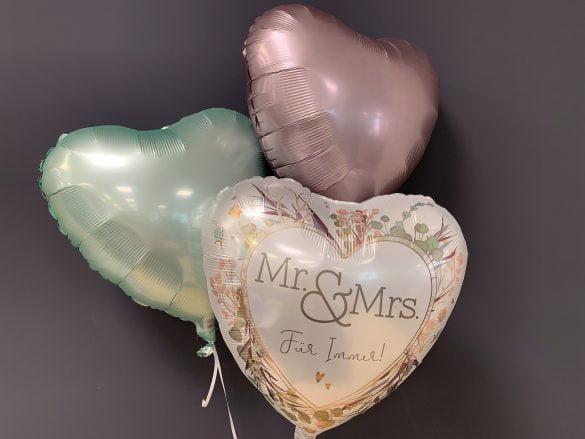 Ballon Hochzeit Mr. & Mrs.