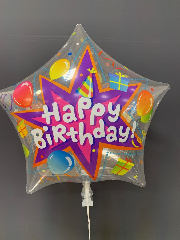 "Helium-Ballon Stern ""Happy Birthday"""