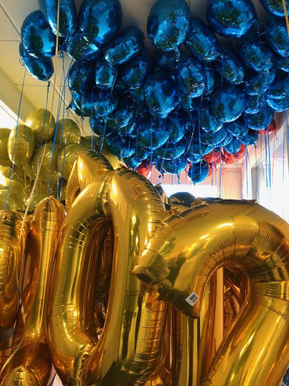 Zahlenballons gold
