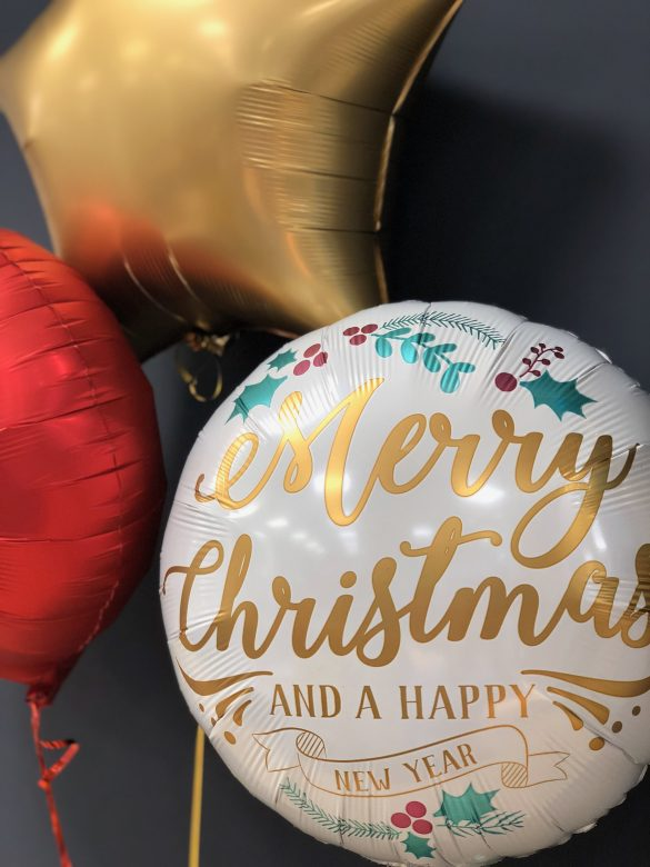Ballon Merry Christmas and a Happy New Year