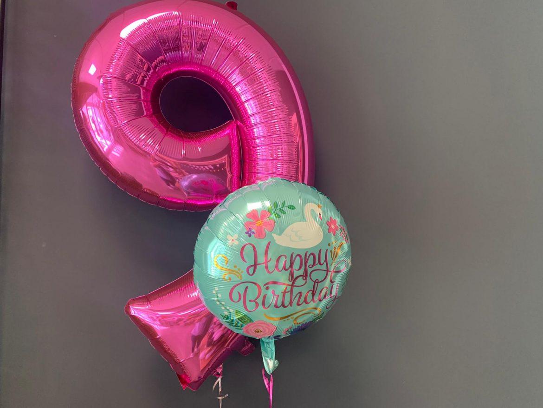 Zahl 9 € 9,90 mit Happy Birthday Ballon € 5,50 1