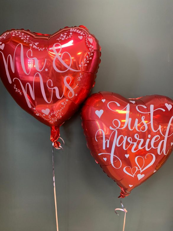 Just Married rote Ballons jeweils € 5,90 69