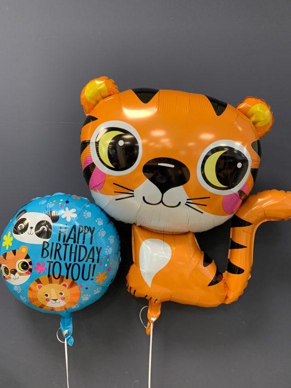 Tiger Folienballon €6,90<br />Geburtstagsballon € 5,50 50
