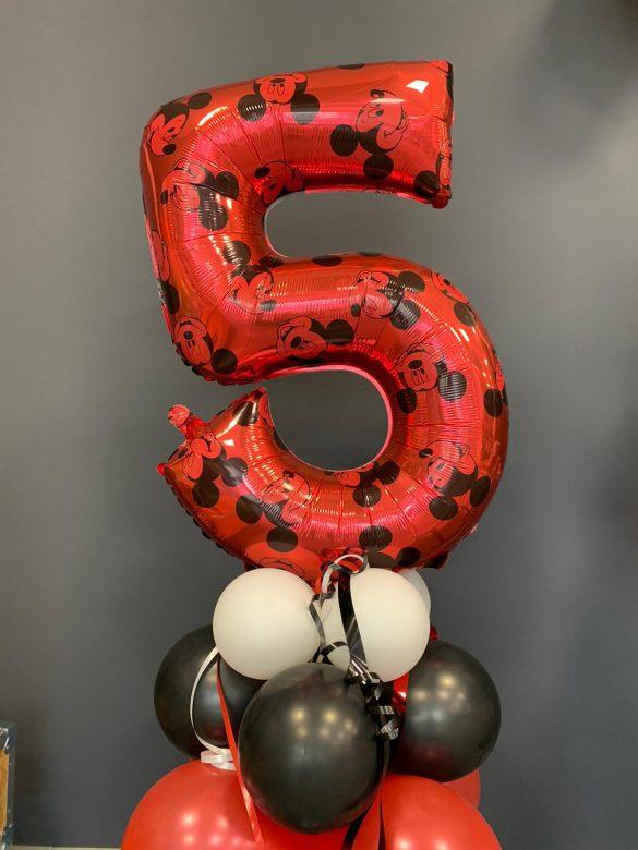 Ballon Zahl 5 mit Mickey Maus € 9,90 39