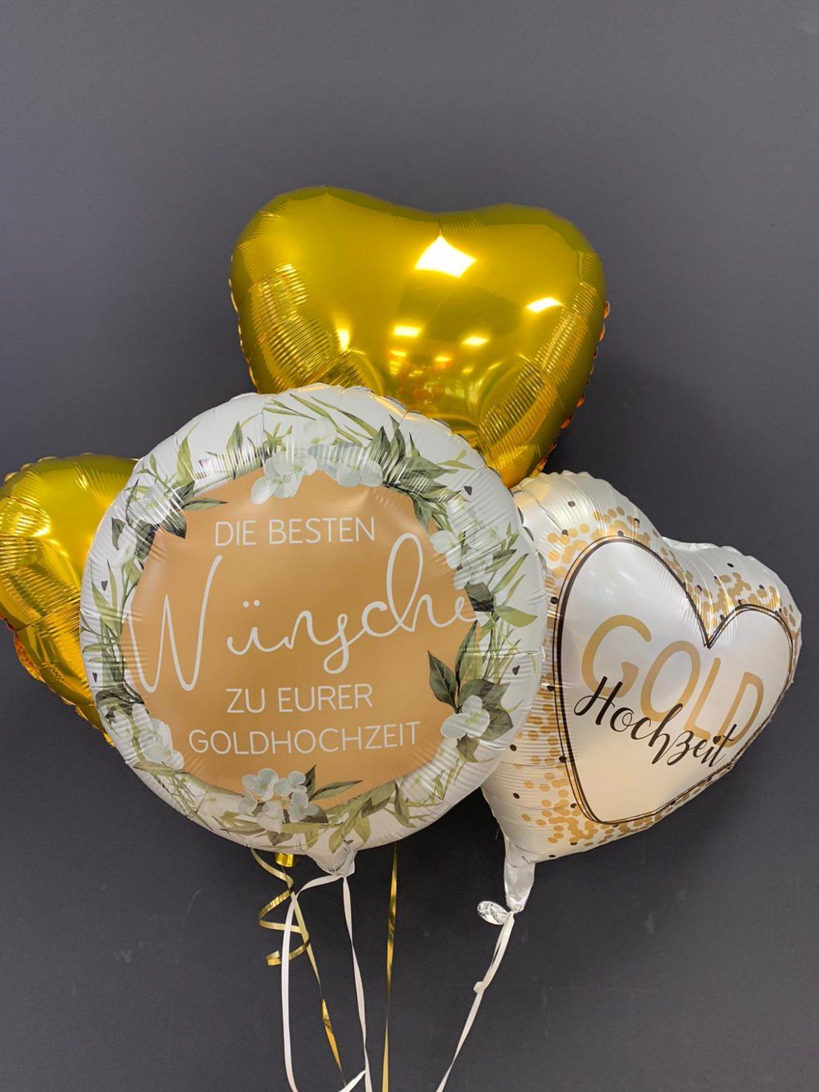 Wünsche zur Goldhochzeit Ballon € 5,90 und Dekoballons € 4,50 1