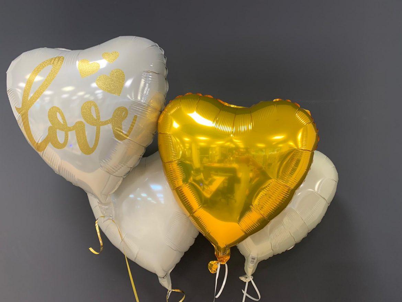 Love Ballon € 5,90 und Dekoherzballons je € 4,50 1