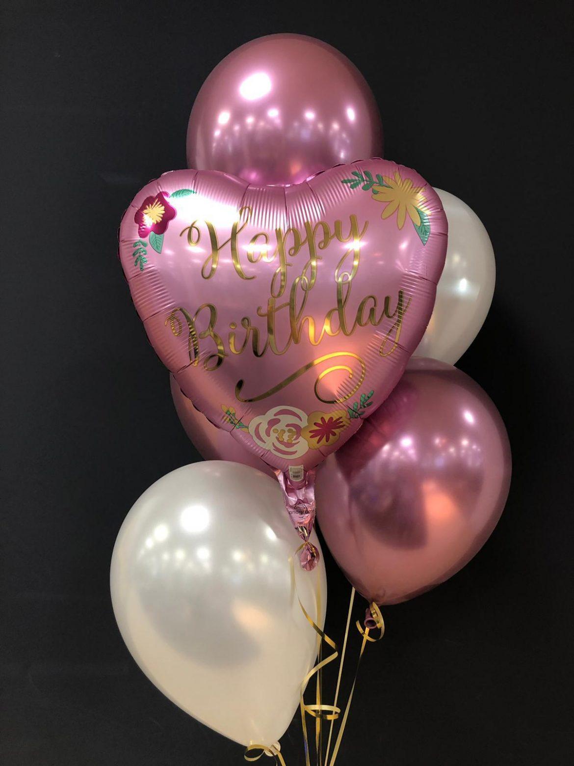 Happy Birthday €5,50<br />Latexballons je €1,95 1