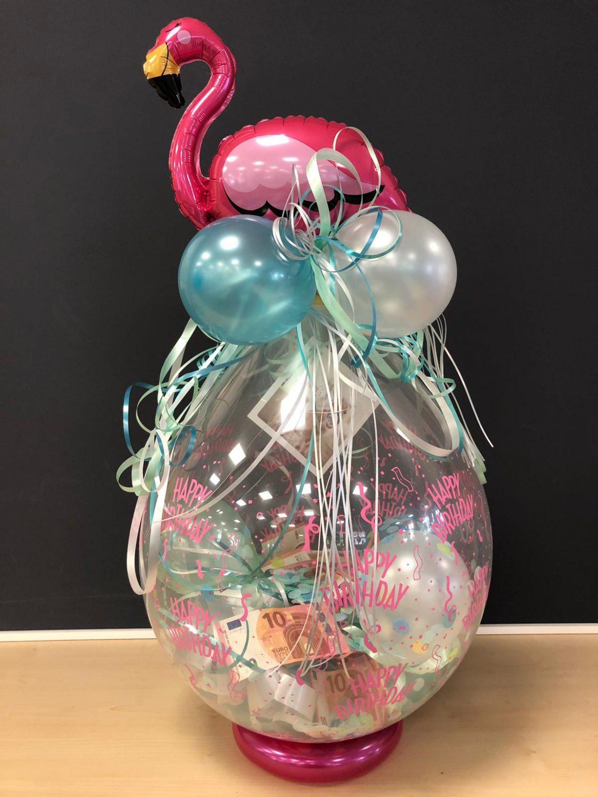 Ballongeschenk mit Flamingo € 14,90 1