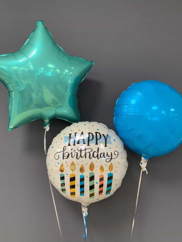 Happy Birthday € 5,50<br />Dekoballons farbig € 4,50 134