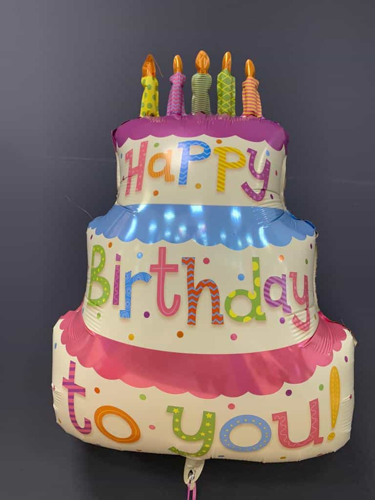 Happy Birthday Torte € 7,90<br />Heliumballon aus Folie 1