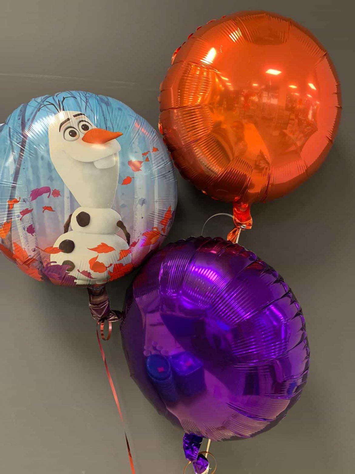 Frozen Heliumballon € 5,50 mit Dekoballons € 4,50 1