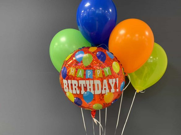 Happy Birthday € 5,50<br />Latexballons je € 1,95 146