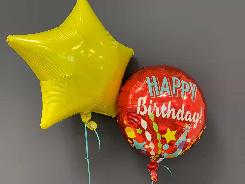 Happy Birthday €5,50<br />gelber Dekostern €4,50 1