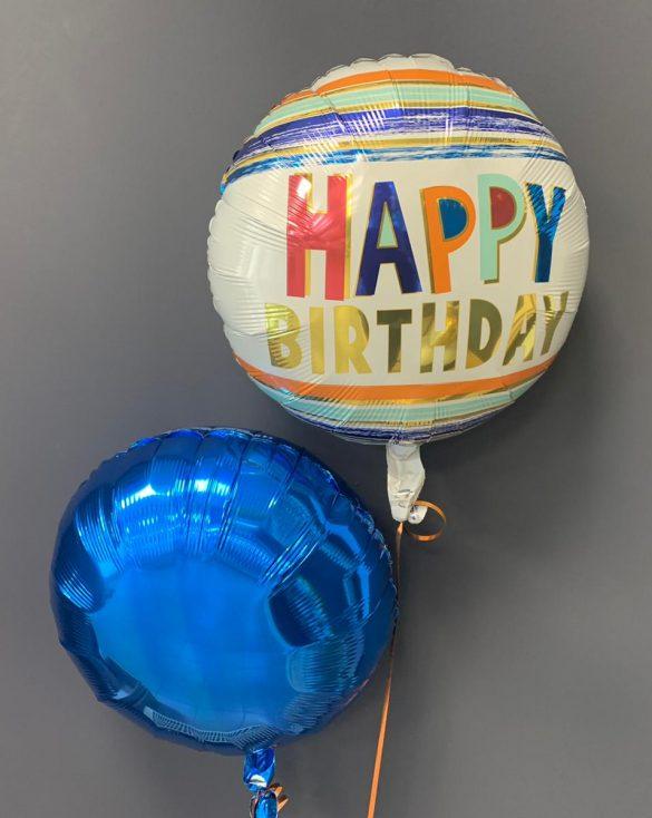 Geburtstagsballon €5,50<br />blauer Dekoballon €4,50 144
