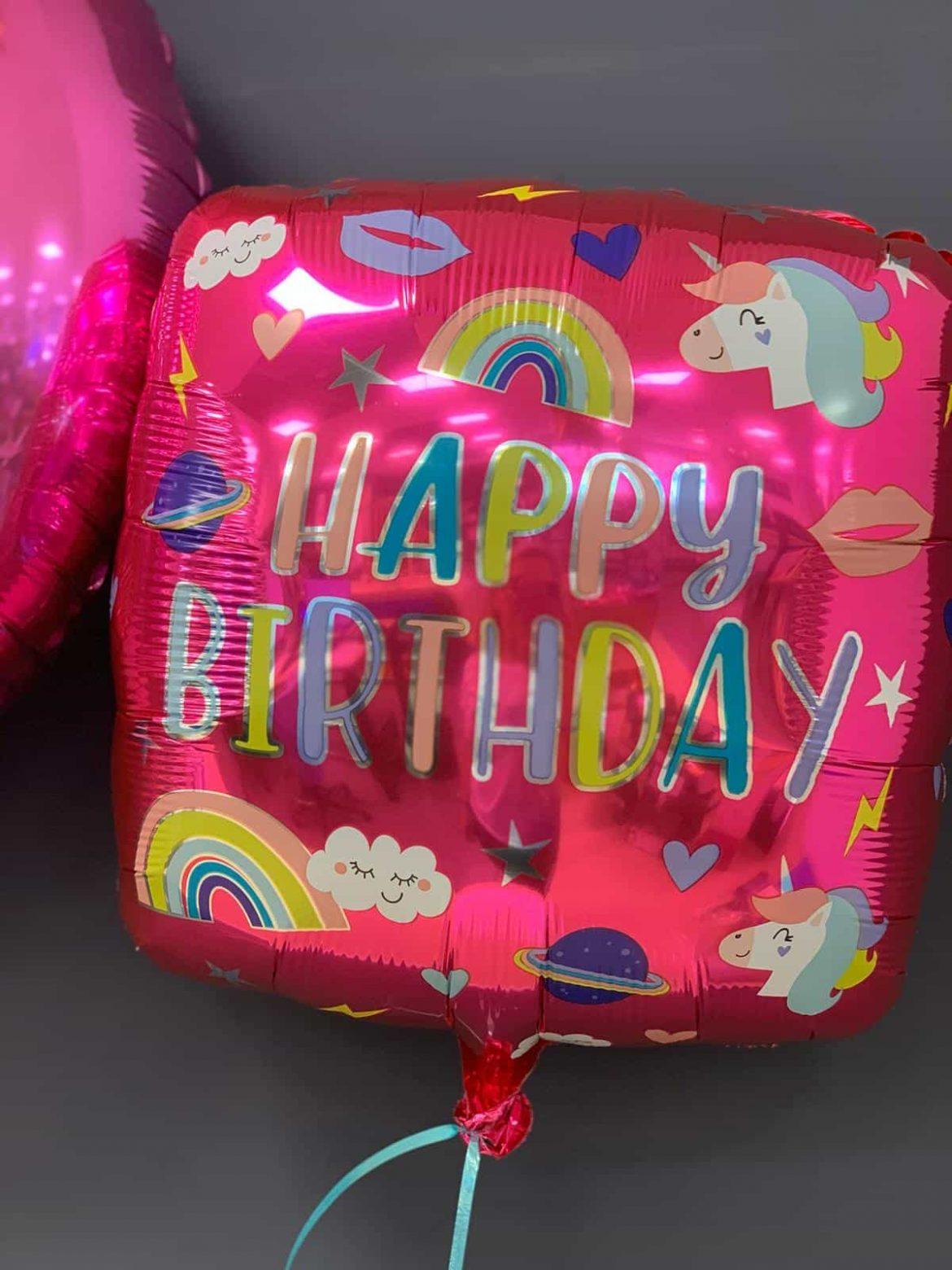 Happy Birthday Ballon Quadratisch € 5,50 1