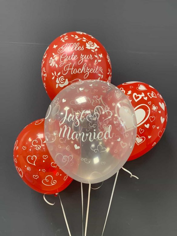 Just Married Latexballons je € 2,20 27