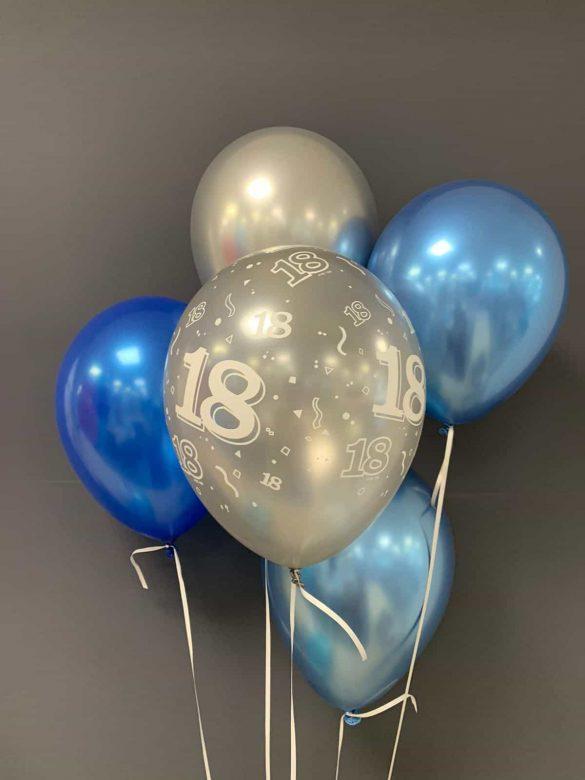 Latexballons chrome €2,20<br />zum Geburtstag 98