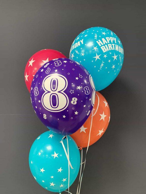 Latexballons  €2,20<br />zum Geburtstag 6