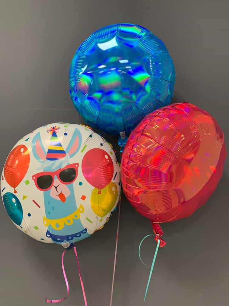 Heliumballon Party-Lama € 5,50 mit Dekoballons € 4,50 1