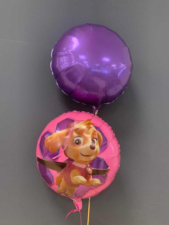 Paw Patrol Ballon € 5,50 und Dekoballon lila € 4,50 80