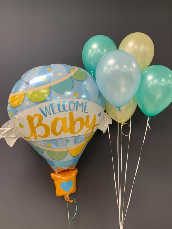 Welcome Baby € 9,90<br />Latexballons je € 1,95 222