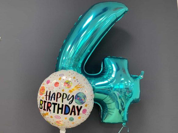 Zahlenballon 4 € 9,90<br />Happy Birthday € 5,50 150