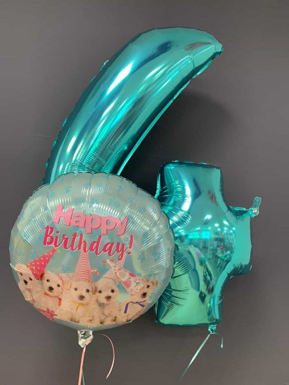 Zahlenballon 4 €9,90<br />Birthday Hunde €5,50 17