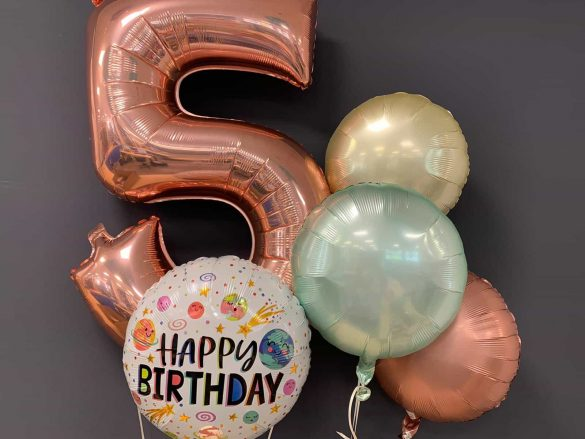 Zahlenballon 5 € 9,90<br />Happy Birthday € 5,50<br />Dekoballons € 4,50 13