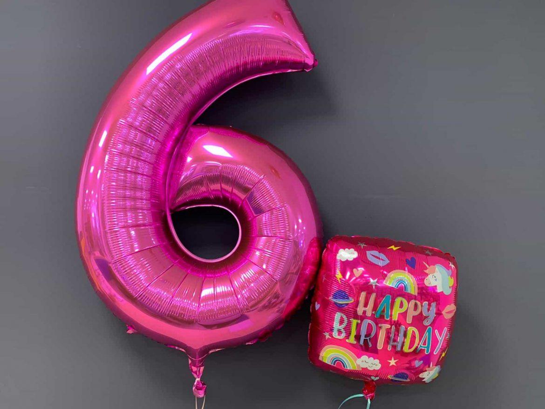 Zahlenballon €9,90<br />Geburtstagsballon €5,50 1
