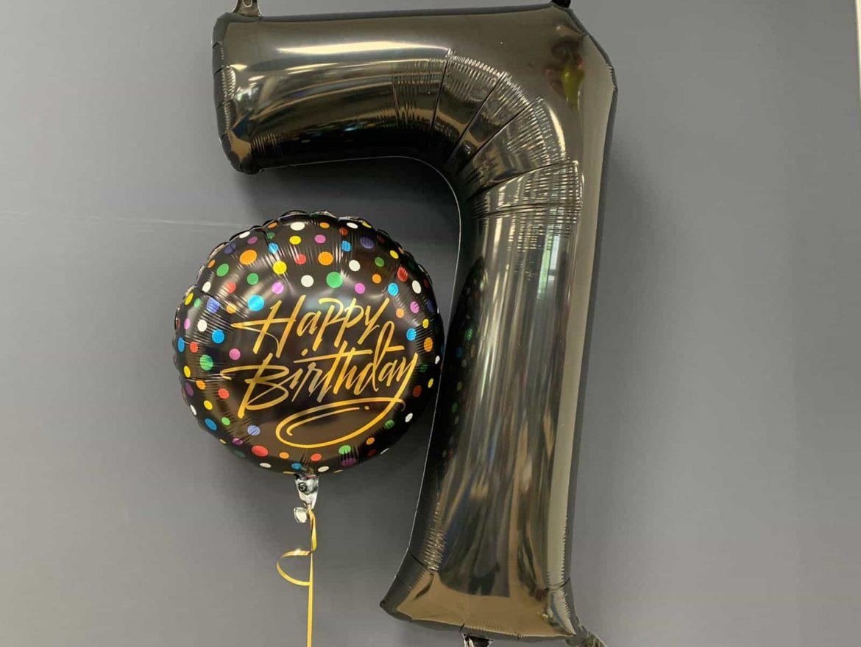 Zahlenballon 7 €9,90<br />Happy Birthday €5,50 1
