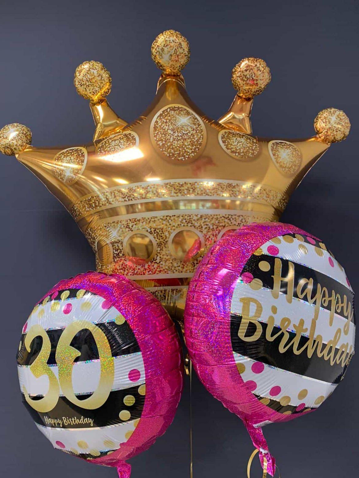 Ballon Krone<br />Ballon Happy Birthday € 5,50<br />Ballon 30 € 5,50 1
