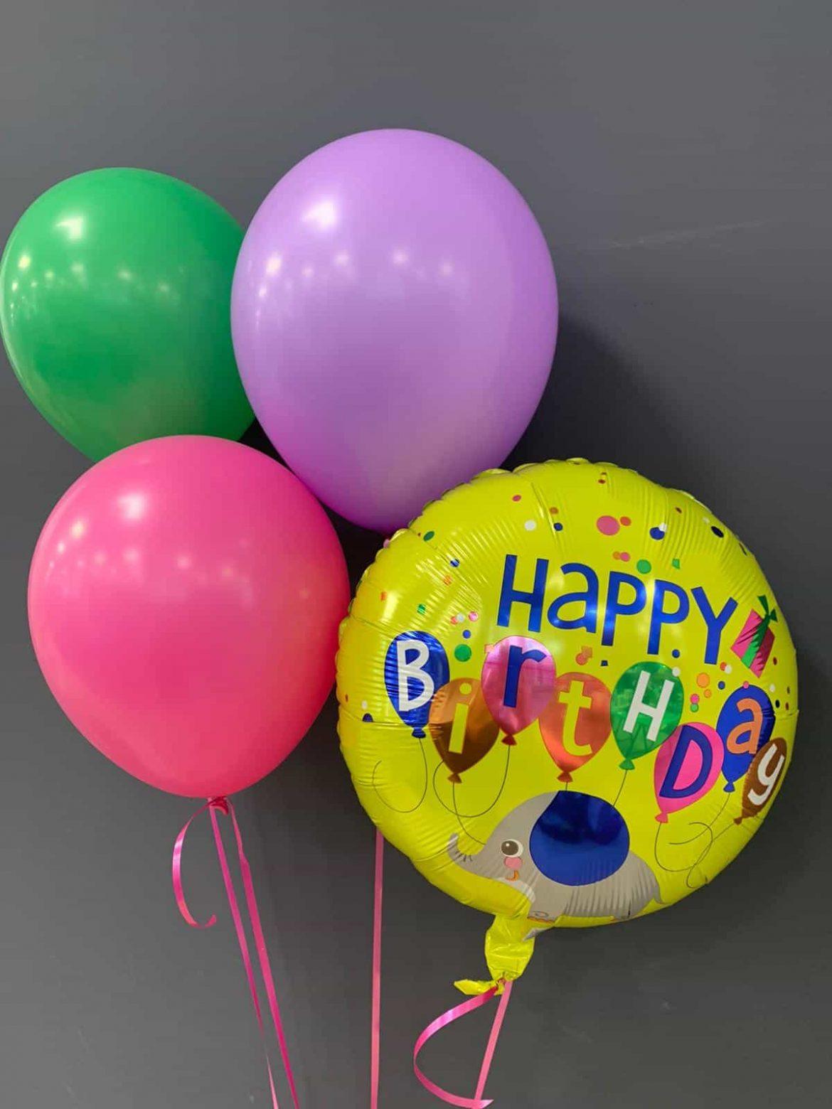 Happy Birthday € 5,50 <br />Latexballons € 1,95 1
