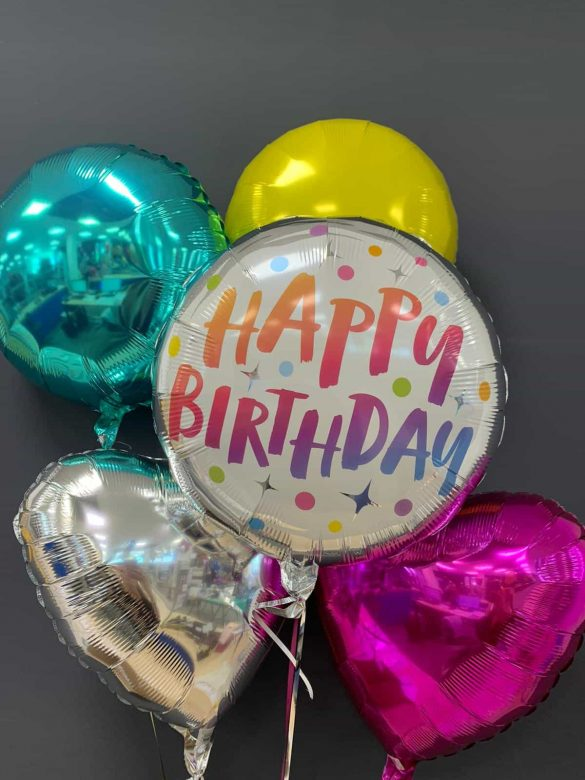 Happy Birthday € 5,50 <br />Dekoballons € 4,50 70