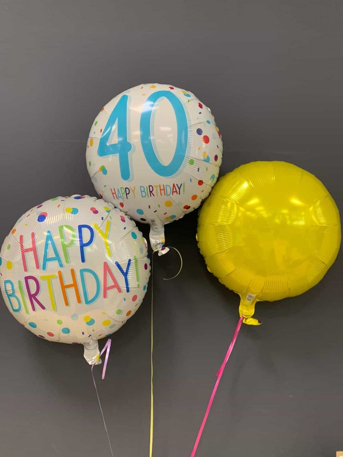 Happy Birthday rund Zahl 40 rund Dekoballon