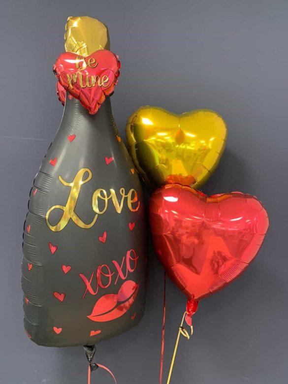 Flasche Love xoxo € 8,90<br />Dekoballons € 4,50 16