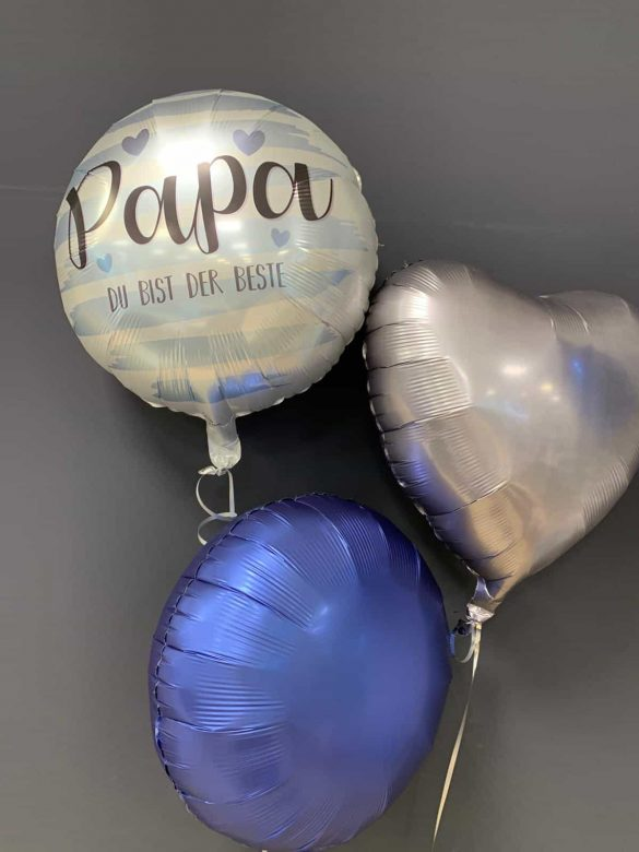 Papa Du bist der Beste<br />Folien-Ballon € 5,50<br />Dekoballon € 4,50 18
