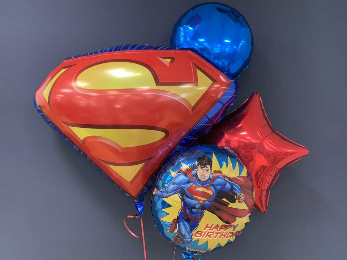 Superman S € 7,90<br />Happy Birthday  €5,50<br />Dekoballon € 4,50 1