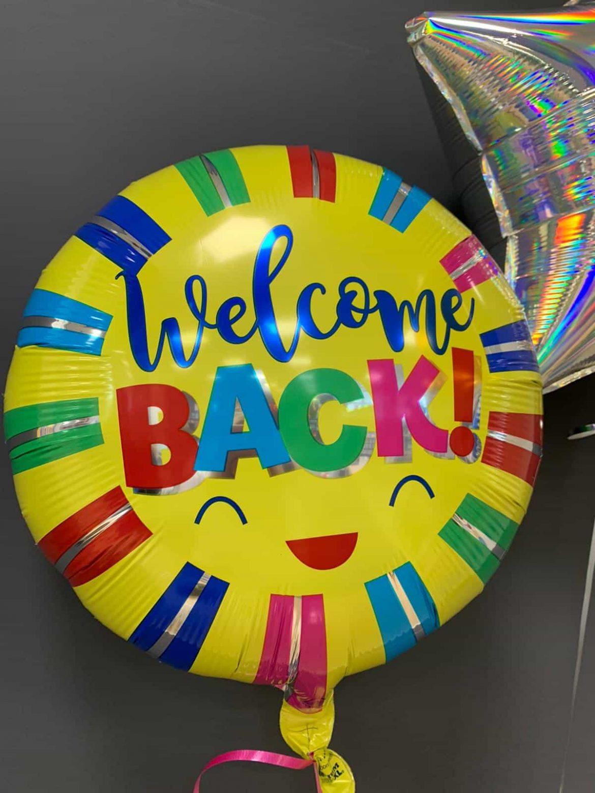 Welcome Back €5,50<br />Ballon mit Heliumfüllung 1