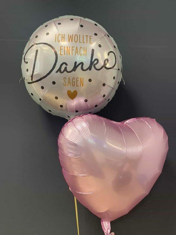 Ballon Danke € 5,90<br />Dekoballon rosa € 4,50 10