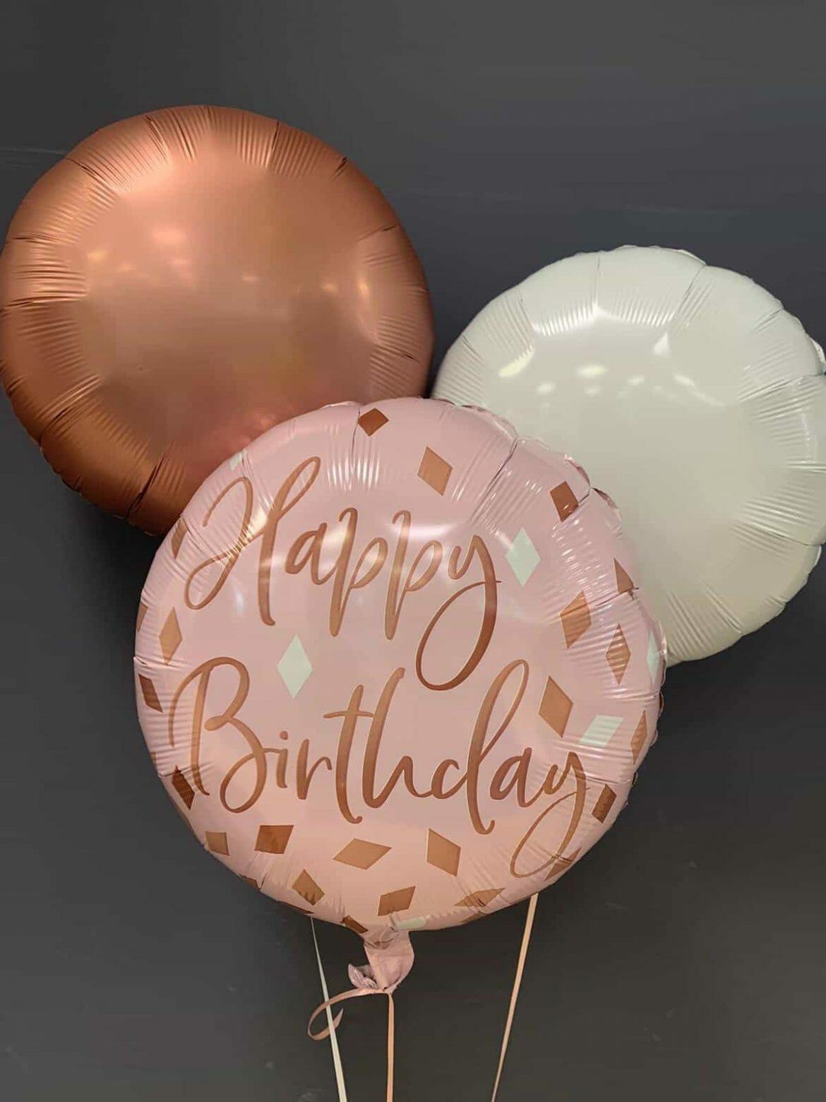 Happy Birthday € 5,50 <br> Dekoballons je € 4,50 1