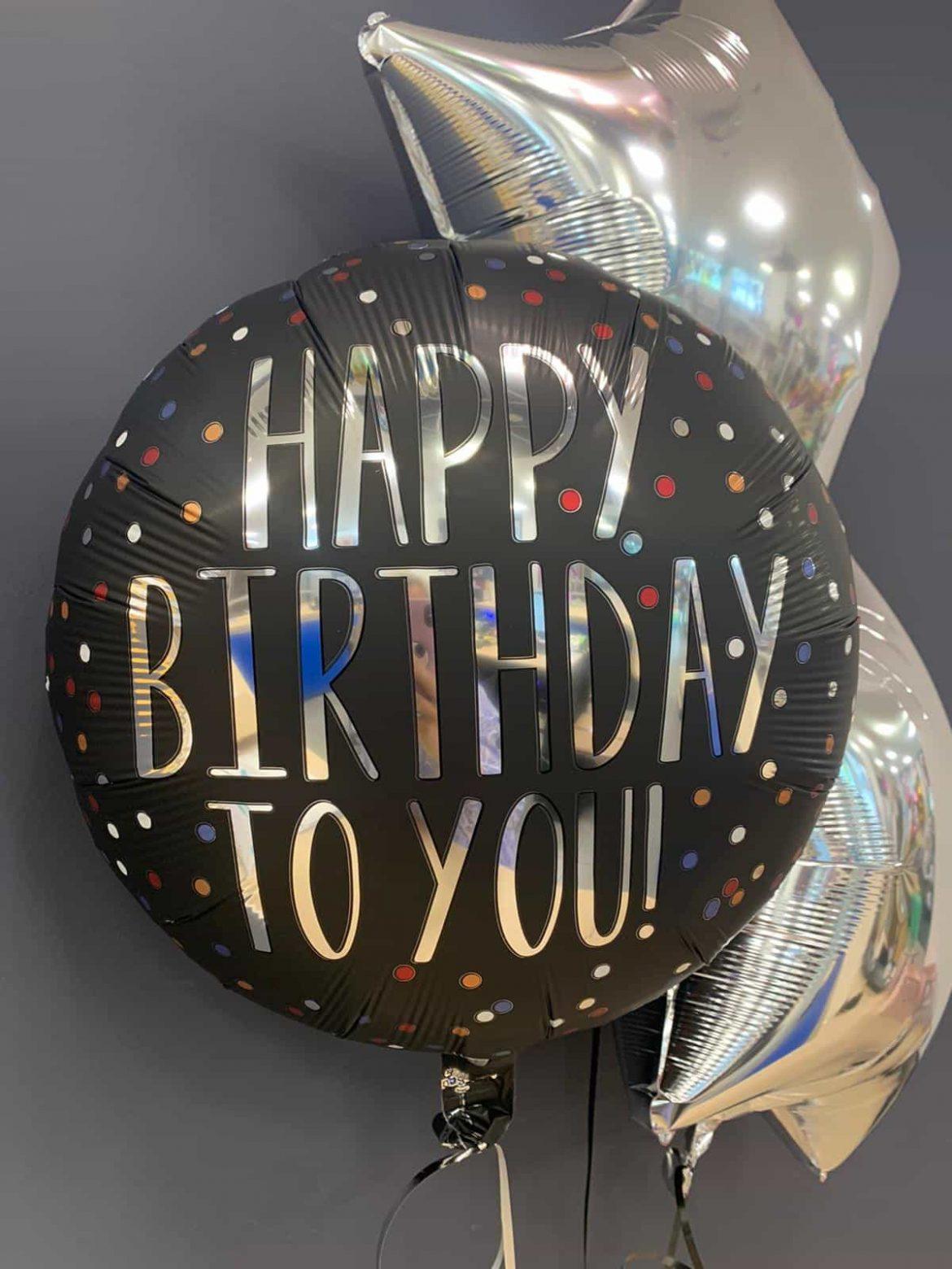 Happy Birthday € 5,50<br>Dekoballons € 4,50 1