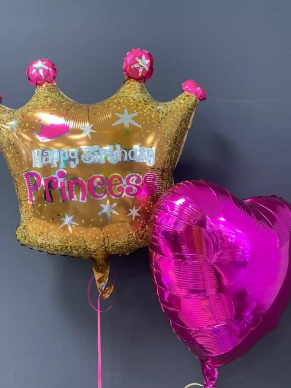 Happy Birthday Princess <br />Ballon Krone € 5,90 <br />Dekoherz lila € 4,50 52
