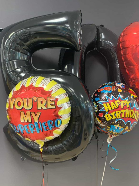 Happy Birthday € 5,50<br>Zahlenballons € 9,90<br>Superhero € 5,50 42