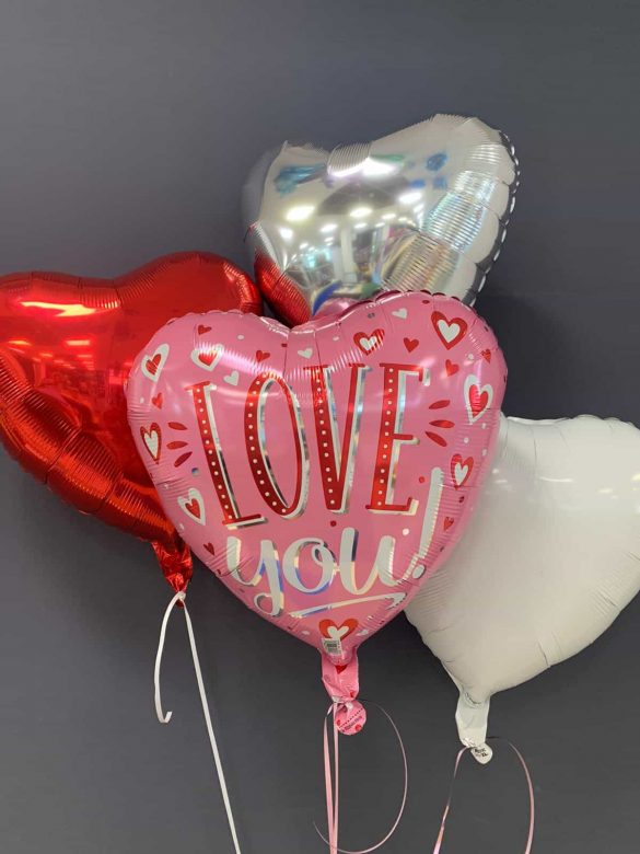 Herzballon Love You € 5,50 <br> Dekoballons € 4,50 6