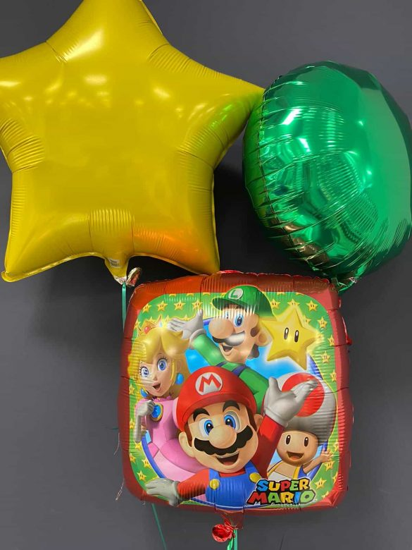Super Mario € 5,50<br> Dekoballons je € 4,50 9