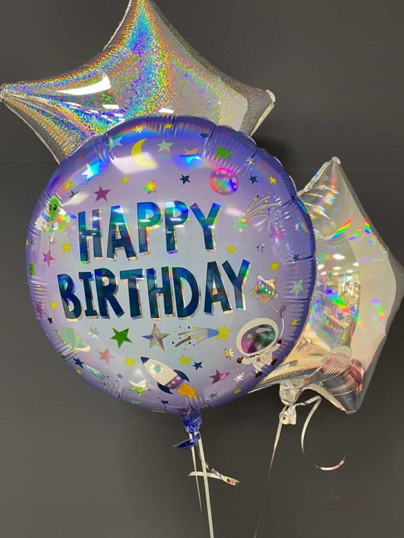 Happy Birthday € 5,50<br> Dekoballons je € 4,50 10