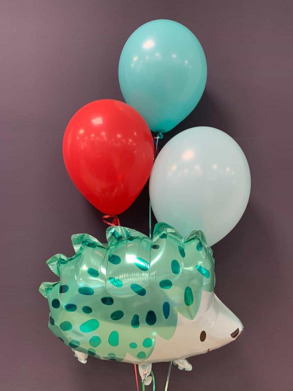 Ballon Igel € 5,90<br>mit Latexballons je € 1,95 10