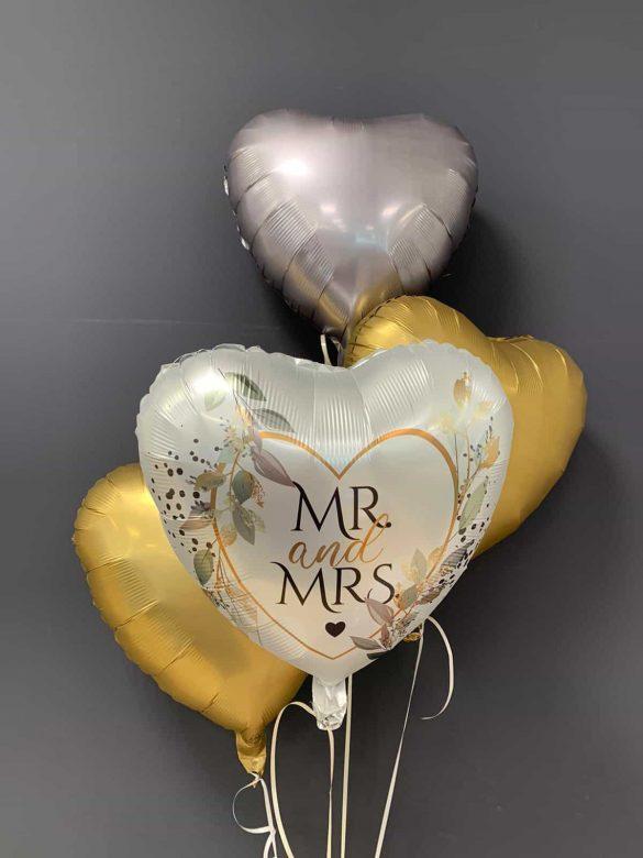 Zur Hochzeit<br>Mr & Mrs € 5,90<br>Dekoballons €4,50 5
